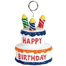 Birthday Party Supplies: Birthday Cake Photo/Balloon Holder (6 ct)